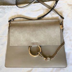 Chloe Faye Handbag Motty grey Medium authentic